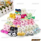 New Baby Girl Boy Anti-slip Socks Slipper Warm Cartoon Shoes Boots 0-6 Month TY