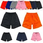 Athletic Training Running plain Shorts Elastic Waist Sport Pants S-XXL 7 colors