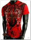 NEW MENSS RED UFC MMA WINGS SWORD SHINY CLUB T-SHIRT