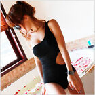 Hot Sexy Bow Knot One Shoulder One Piece Black Women Bathing Suit Swimsuit