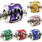 Wholesale Lot 6pcs Silver Symbol European Spacer Charm Beads For Bracelet
