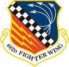STICKER USAF 482ND FIGHTER WING