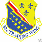 STICKER USAF  82ND TRAINING WING