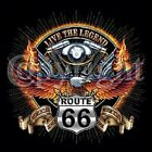 V TWIN LEGEND ROUTE 66 BIKER RIDER CHEST LOGO T SHIRT BLACK OR GRAY