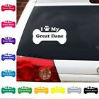 I Heart Love My Great Dane decal sticker