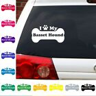 I love heart my Basset Hound decal sticker