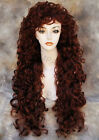Voluminous Curly Extra Long wig W. Fringe/Bangs CHOOSE YOUR COLOR!