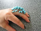 2012 Chunky Spiral Crazy Beads Knuckle Cocktail Ring - red, turquoise, or white