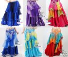 Brand New Beautiful 3 Layers Gradient Belly Dance Skirt 17 Colors Available 986#