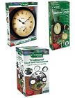 PICK FROM 3 VICTORIAN RETRO WALL MOUNTED GARDEN PATIO CLOCKS INSIDE OUTSIDE USE