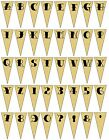 Personalised Parchment Bunting TATTOO LETTERS Font  - Ideal for Wedding OR Party