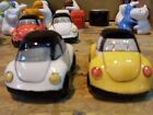 VW BEETLE  SALT AND PEPPER POTS WITH MUILTY BUY POSTAL OFFER