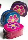 Leather Flower Pattern Coin Purse - Pink Blue or Purple - Zip - Fair Trade (NEW)