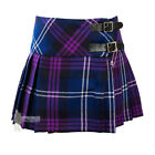 GIRLS' WOOL 'BILLIE' MINI KILT -  HERITAGE OF SCOTLAND TARTAN - RANGE OF SIZES!
