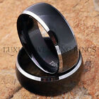 Black Tungsten Rings Mens & Womens Wedding Bands Set Bridal Jewelry Size 6-13