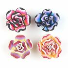 Colorful Rainbow Flowers Charms Wholesale  Flatback Polymer Clay Beads Findings