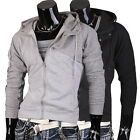 JS  Men's Designer Slim Fit Check Plaid Jacket Coat Shirt Top Stylish Hoodie NEW
