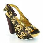 Irregular Choice Green Fly Womens Leather Heels Brown