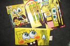 Sponge Bob Squarepants Stationery Sets, 3 Ballpoint Pens or Scribble Set