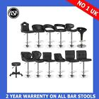 New BLACK Faux Leather ABS Kitchen Breakfast Bar Stools Barstools Chrome Swivel