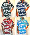 LOUD HAWAIIAN SHIRT WITH HIBISCUS FLOWERS, STAG NIGHT HOLIDAY PARTY NEW