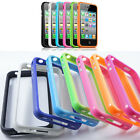 4 Color Silicon Bumper Frame Case Skin Cover for iPhone 4/ 4S With Side Button
