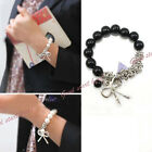 New Style Fashion Bowknot Pearl Butterfly Hand Chain Bracelet Retro Beads Bangle