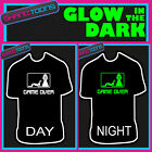 GAME OVER GROOM STAG PARTY FUNNY WEDDING GIFT GLOW IN THE DARK PRINTED TSHIRT