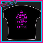 KEEP CALM AND PARTY IN LAGOS CLUBBING HOLIDAY TSHIRT