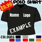 PERSONALISED CUSTOMISED OWN DESIGN LOGO T POLO SHIRT
