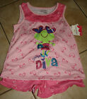 "NWT Jumping Beans 3pc Pink Frog ""Daddy's Little Diva"" Pajamas & Doll Gown 6X 7"