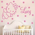 HELLO KITTY angel wall sticker & personalised name HK13