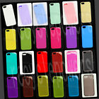 For iPhone 5 five 4 pastel color TPU Silicone phone case Soft Crystal Skin cover