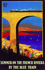 6281. Summer on the French Riviera by the blue train POSTER. Wall Art Decorative