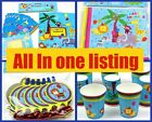 Boys Party Tableware JUNGLE ANIMAL All in one place Plates Cups Napkins Bags Toy