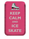 Keep Calm & Ice Skate PHONE CASE POUCH SLEEVE Fits Iphone 3 & 3s ,4 & 4s, 5