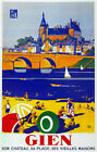 Travel Decor Poster. Fine Graphic Home Art Design. Gien Vieilles Maisons. 2730