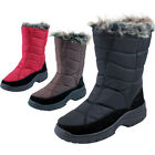 LADIES SNOW BOOTS THERMAL WELLINGTONS WINTER FUR WELLIES SIZE 3-8UK