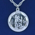 925 Sterling silver St Christopher and rope chain M108