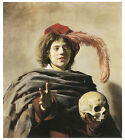 Young Man with a Skull, c.1626-28, Frans Hals - Art on Canvas