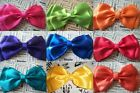 ♥BIG BRIGHT SATIN DOUBLE BOW HAIR CLIP CUTE 80s RETRO 50s VINTAGE STYLE HANDMADE