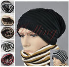 Dual-use Men Women Unisex Knit Hip-Hop Beanie Hat Skull Cap Neck Warmer Scarf