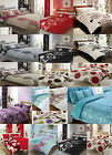 SINGLE DOUBLE KING SIZE DUVET COVER WITH PILLOW CASE QUILT COVER BEDDING SET