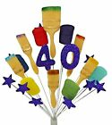 PAINTER & DECORATOR CAKE TOPPER DECORATION:18th,21st,30th,40th,50th,60th,70th,80