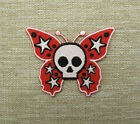 CUTE SKULL BUTTERFLY   Embroidered  Iron On/Sew On Patch Emo Goth Punk Rock