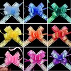 10 Small Luxury Pull Bows with AB Coating, Wedding, Party, Xmas, Gift Wrap