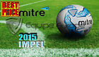 NEW 2015 MITRE IMPEL WHITE/BLUETRAINING FOOTBALL SIZE 3,4,5 (32 PANEL BALL)