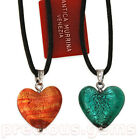 "Antica Murrina ""CUORE MATTO"" Heart Pendant AND Matching ""CATERINA"" Studs"