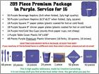 PURPLE Party Supplies Pack - cutlery,plates,cups,napkins,WHOLESALE LOT Tableware