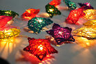 MIXED STAR MOON RATTAN STRING PARTY,PATIO,FAIRY,DECOR,ROOM,KID,HOME LIGHTS